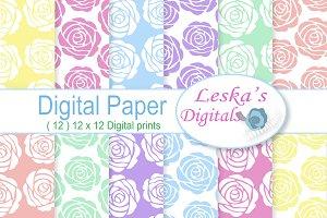 Pastel Roses - Digital Paper