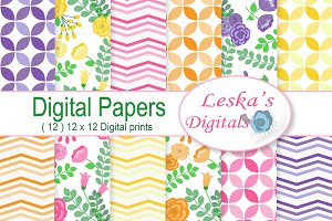 Digital Paper - Flowers