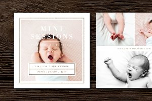 Newborn Mini Session Template