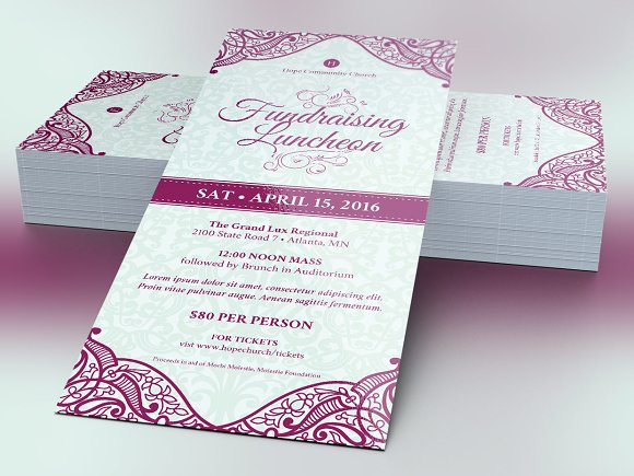 fundraising luncheon flyer template flyer templates creative market