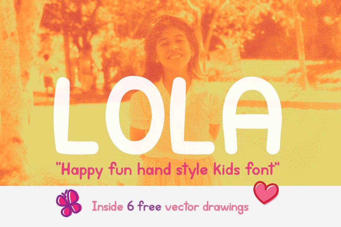 Lola Kids Font Sans Serif Fonts Creative Market