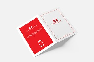 A4 A5 Bi-Fold Brochure Mock-Up