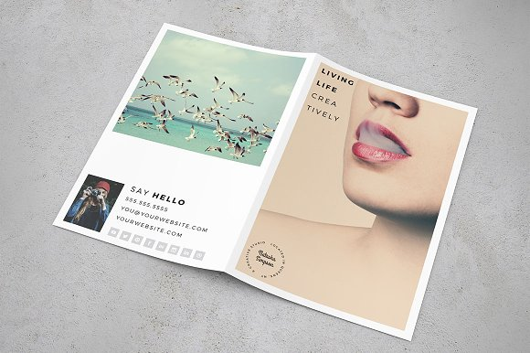 the portfolio bifold 8 5 x 11 brochure templates creative market