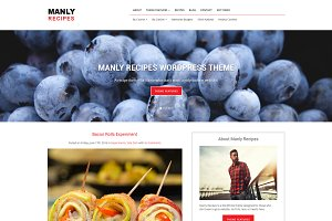 Manly Recipes WordPress Theme