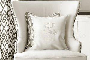 Pillow Mockup, Smart object PSD file