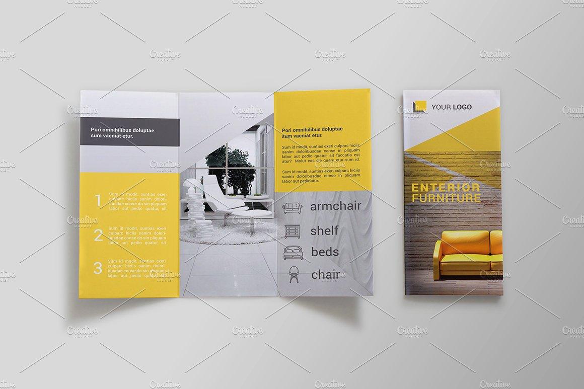 Furniture tri fold brochure bms brochure templates on for Best tri fold brochure design