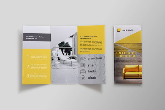 furniture tri fold brochure sk brochure templates creative market
