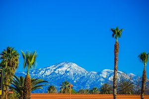 Los Angeles snowy mountains
