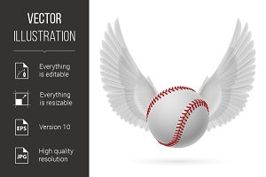 Flying baseball