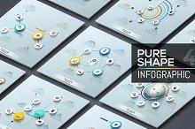 Pure Shape Infographic. Set 3