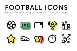Football Soccer Vector Icons