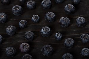 Dark blueberry closeup berry background