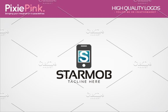 Star Mobile Logo Template
