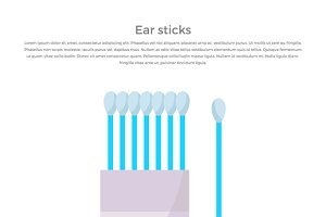 Ears Stick. Cotton Swabs