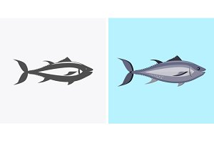 Fish Icon Design Flat Isolated