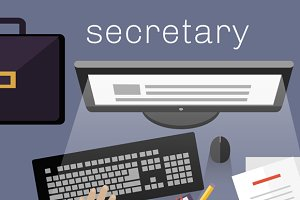 Secretary Work View Top