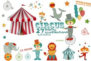 Circus - digital cliparts
