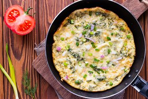 egg omelet in a pan