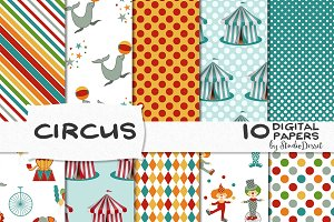 Circus - digital papers