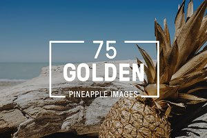 75 Golden Pineapple Images Bundle