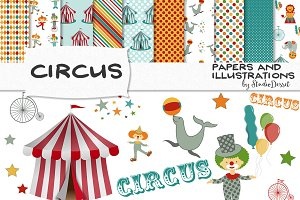 Circus - papers and illustrations