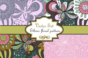 "Vector set ""Abstract floral Pattern"""