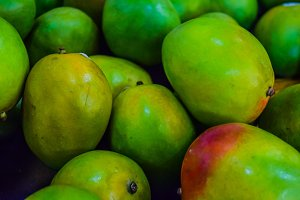 Green Mangos background