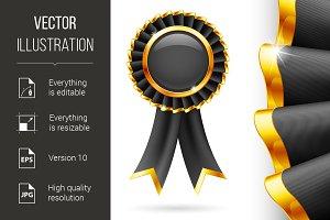 Black award ribbon