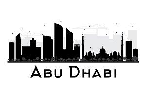 Abu Dhabi City Silhouette