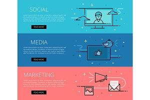 Social Media Marketing web banners