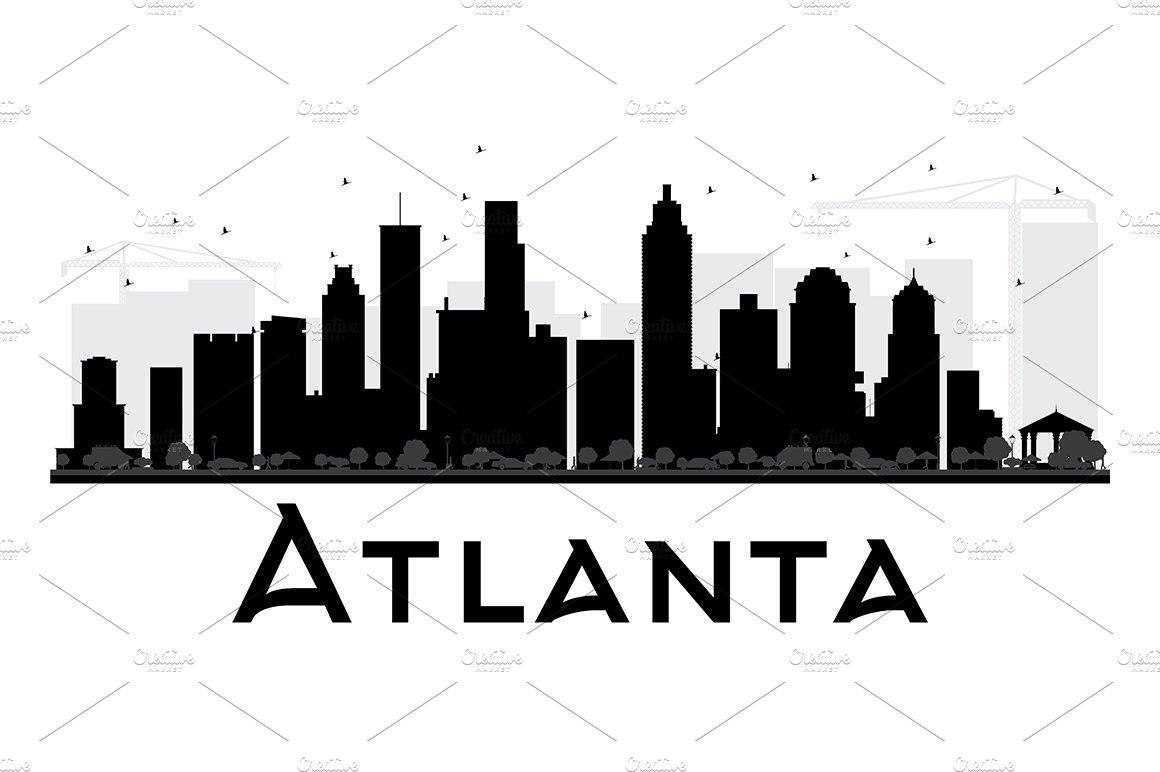 Atlanta Skyline Clip Art - Royalty Free - GoGraph