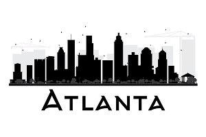 Atlanta City Skyline Silhouette