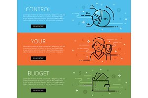 Control Your Budget web banners set