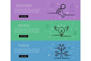Business concept web banners set