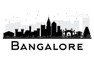 Bangalore City Skyline Silhouette