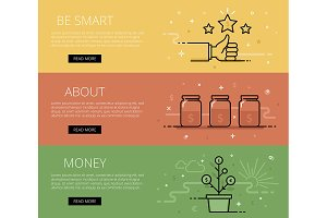 Be Smart About Money banners set