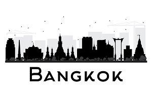 Bangkok City Skyline Silhouette