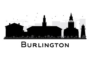 Burlington City Skyline Silhouette