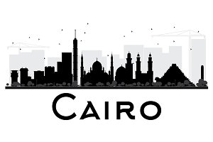 Cairo City Skyline Silhouette