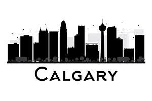 Calgary City Skyline Silhouette