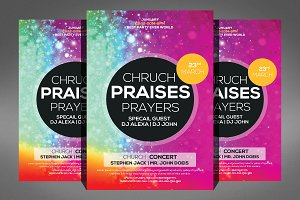 Praises and Prayers Church Flyer
