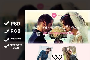 Wedding-One Page Psd Template