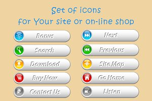 Set of icons for site or online shop
