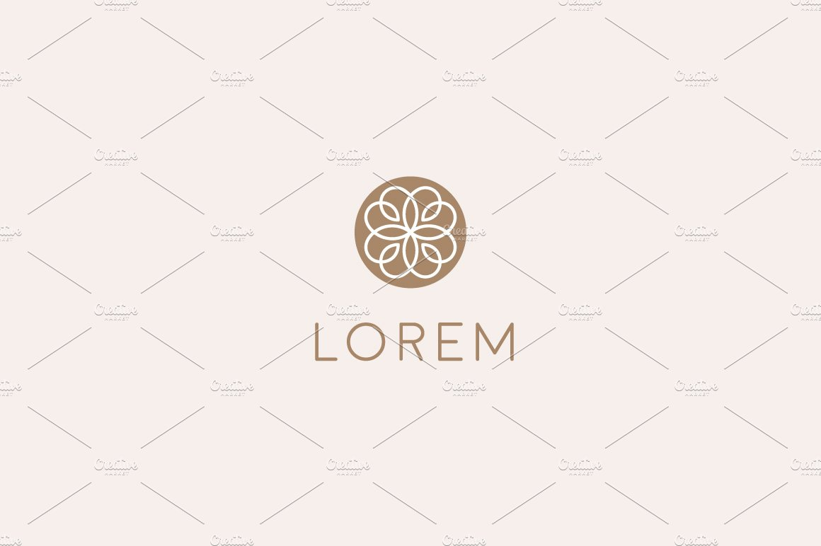 Premium lined flower logo ~ Logo Templates ~ Creative Market