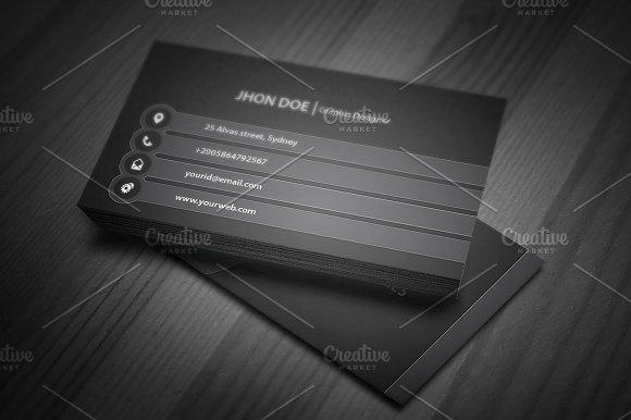 Sleek Business Card Template ~ Business Card Templates on Creative ...