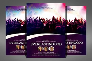 Everlasting God Church Flyer