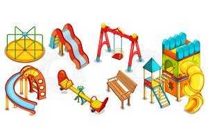 Illustration of playground equipment