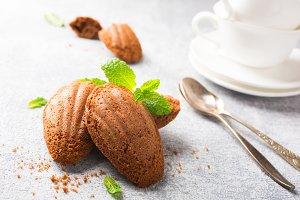 Homemade chocolate cookies Madeleine