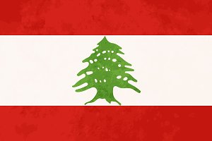 True proportions Lebanon flag