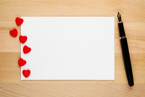 Blank Valentines card